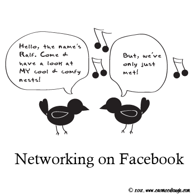 networking on facebook. what not to do