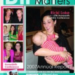 Front cover December issue of Birth Matters Journal, 2007. Layout and photography by Cas McCullough.