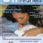 Front cover March issue of Birth Matters Journal, 2009. Layout by Cas McCullough