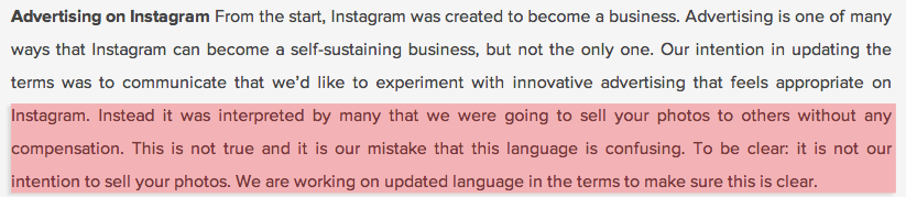 instagram tries to explain its new terms and policies