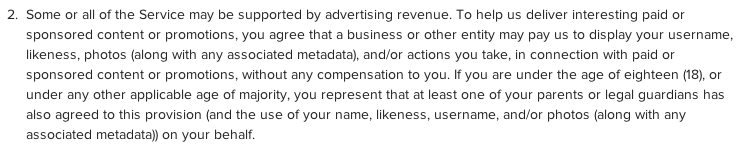 instagram's contraversial new terms of service