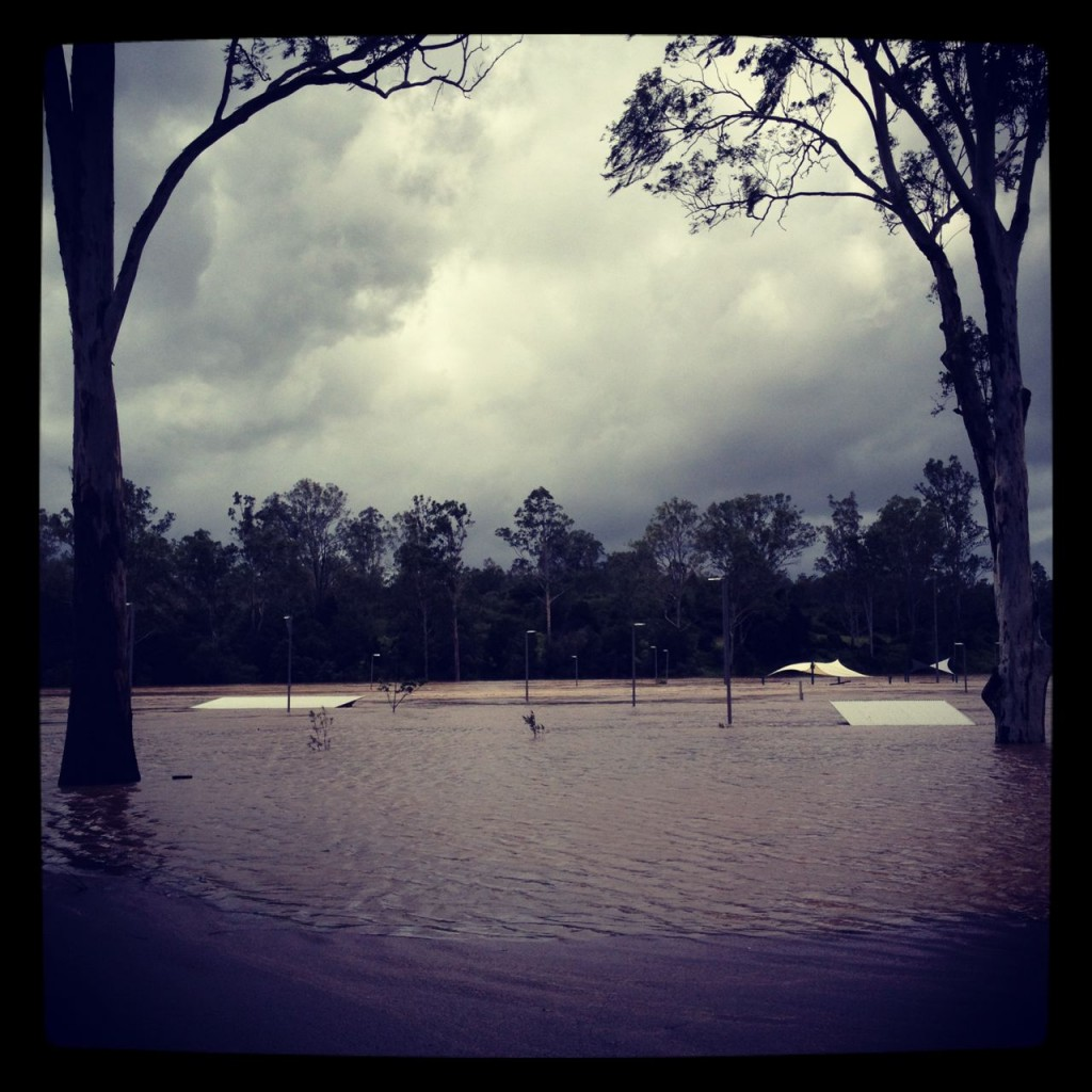 2013 flood at Colleges Crossing, Chuwar, Brisbane, Australia