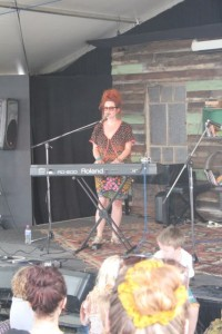 Singer Katie Noonan performs at the Woodford Folk Festival