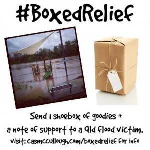 boxedrelief for the 2013 flood victims