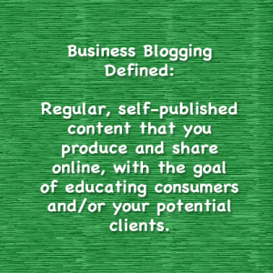 business blogging defined