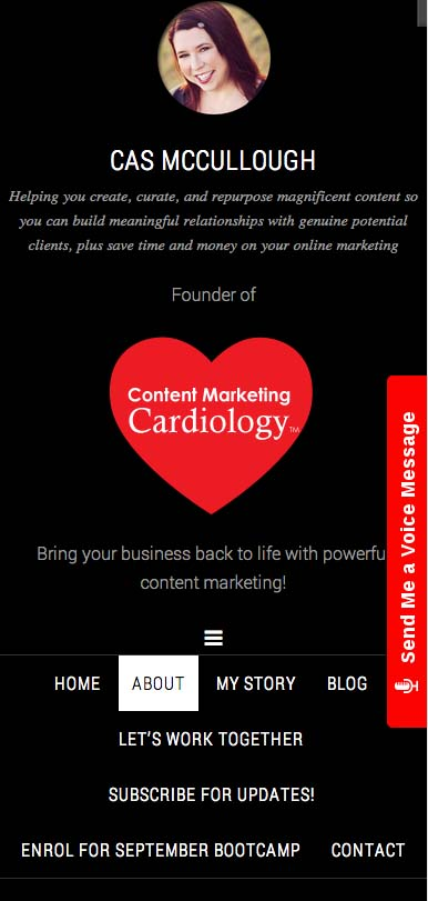 the new content marketing cardiology mobile responsive website