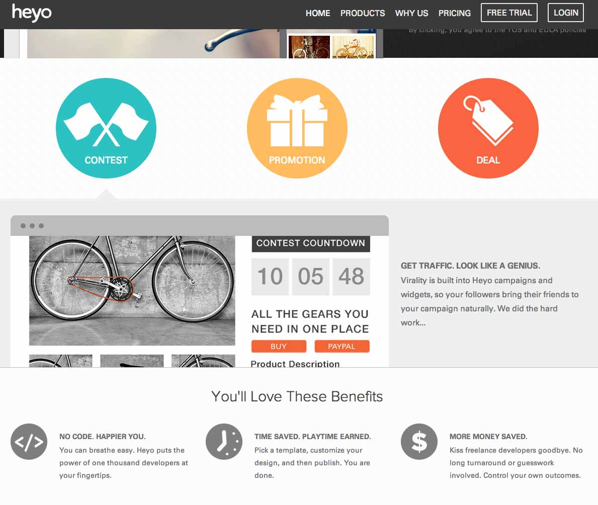 create cool timeline contests using Heyo's new timeline contest app
