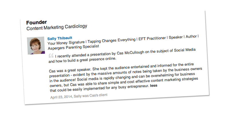 sally thibault feedback