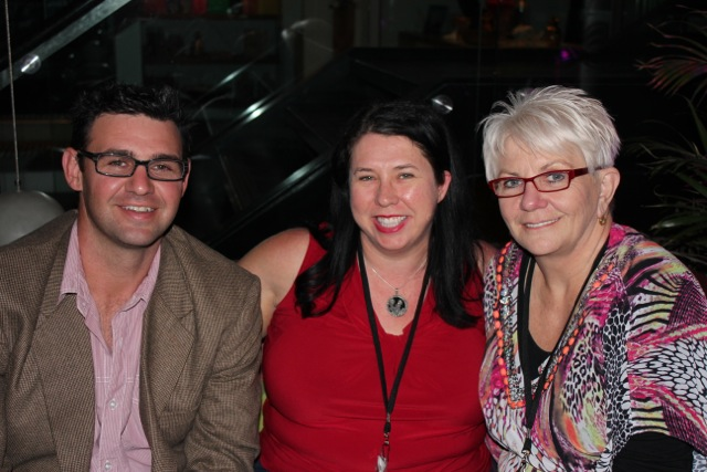With Daniel Rose and Merryl DeFiddes in the Sitingray Bar after Problogger 2014