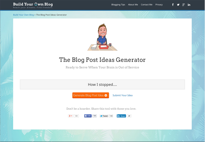 Build Your Own Blog Ideas Generator