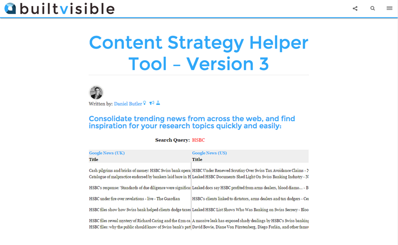 Content Strategy Helper Tool