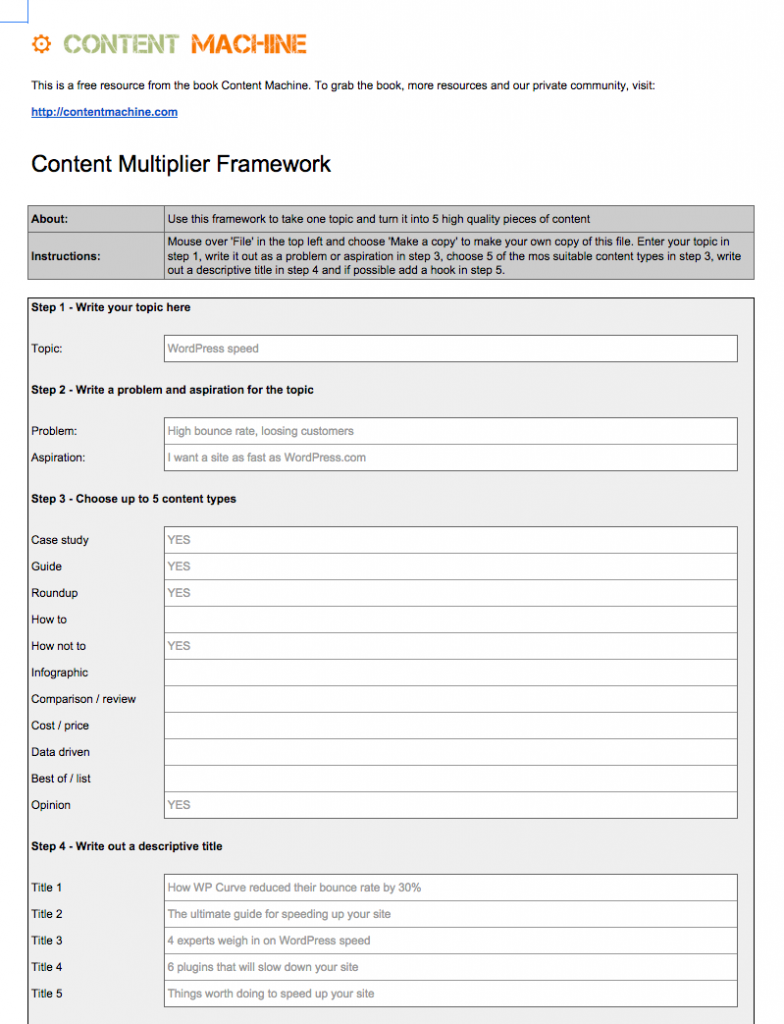 Content Machine Content Multiplier Tool
