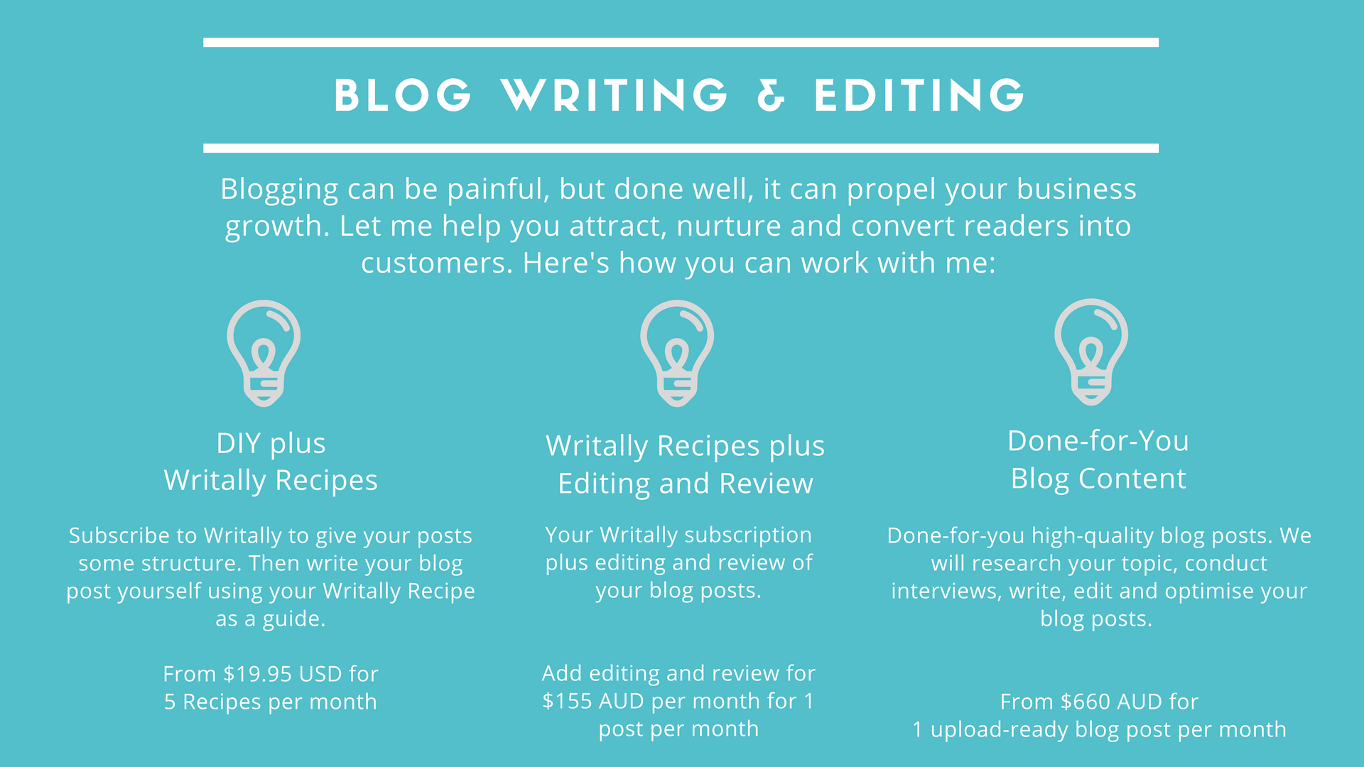 exceptional blog writing and editing